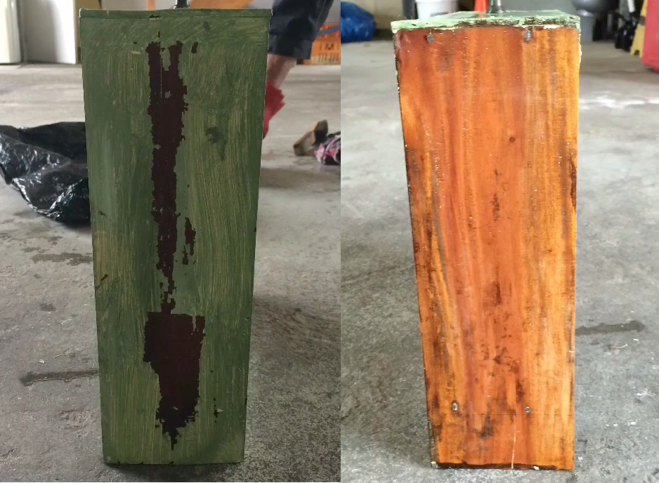 Paint Removal Before and After