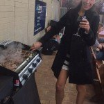 Jess on BBQ duties