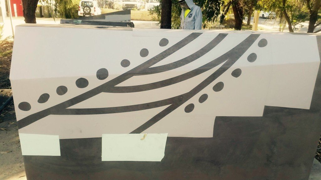 Kings Park Mural Sandblast